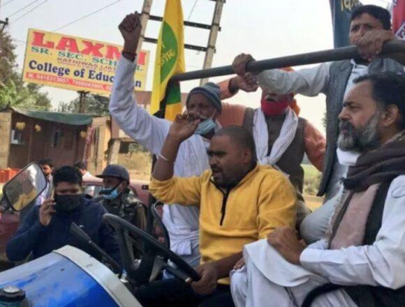 योगेंद्र यादव गिरफ्तार, किसानों पर पानी की बौछार और दागे गए आंसू गैस के गोले
