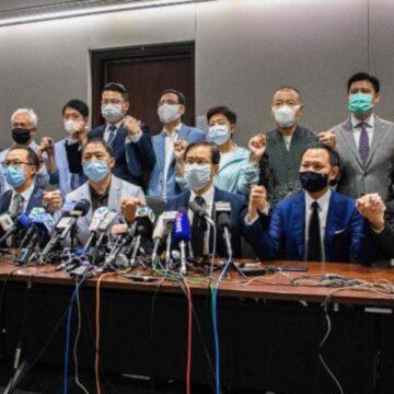 हांगकांग में पूरे विपक्ष का एक साथ विधान परिषद से इस्तीफा देने का फैसला