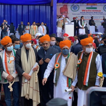 जम्मू में कांग्रेस नेताओं का जमावड़ा, जानें आजाद के 'शांति सम्मेलन' में किसने क्या कहा