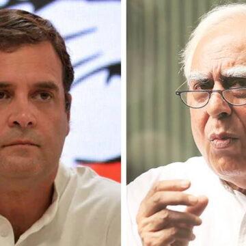 राहुल गांधी के बयान को लेकर बैकफुट पर कांग्रेस, कपिल सिब्बल ने दी नसीहत
