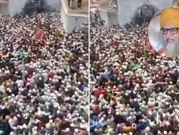 बदायूं के शहर-ए-काजी के जनाजे में उमड़ी भारी भीड़, FIR दर्ज