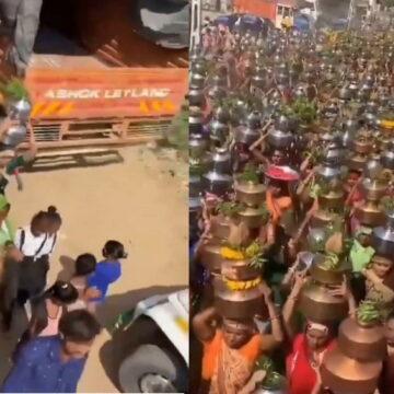 लॉकडाउन के बीच गुजरात में हजारों की संख्या में त्योहार बनाने सड़कों पर निकले लोग