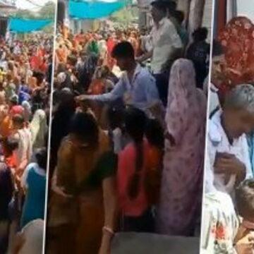 अफवाह उड़ी मंदिर का पानी पीने से कोरोना हो जाएगा खत्म, हजारों लोग जुटे