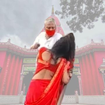 मंदिर में आई महिला को पुजारी ने मारा थप्पड़, वीडियो वायरल, जांच का आदेश